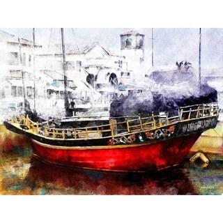 """""""Ventura Dragon Boat"""" by John Fielder, Canvas Giclee Wall Art"""