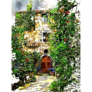 """Italy Civta Doorway"" by John Fielder, Canvas Giclee Wall Art"