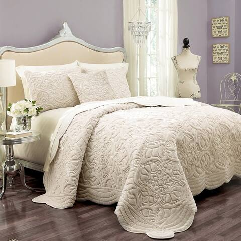 Vue Signature Plush Charlotte Faux Fur Coverlet Set