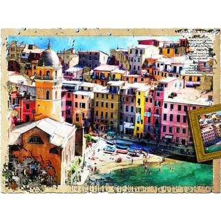 """""""Cinque Terre Vacation"""" by John Fielder, Canvas Giclee Wall Art"""