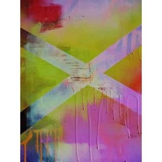 """X"" by Hillary Werth, Canvas Giclee Wall Art"