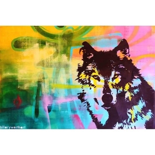 """Mr. Wolf"" by Hillary Werth, Canvas Giclee Wall Art"