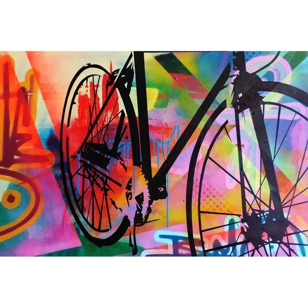 """Bicycle"" by Hillary Werth, Canvas Giclee Wall Art"