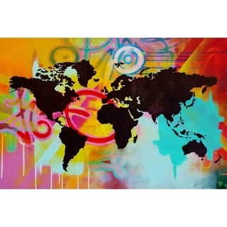 """World"" by Hillary Werth, Canvas Giclee Wall Art"