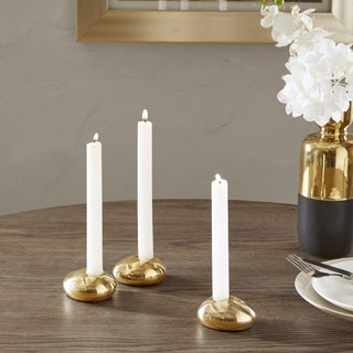 Madison Park Maison Gold Candle Holder (Set of 3)