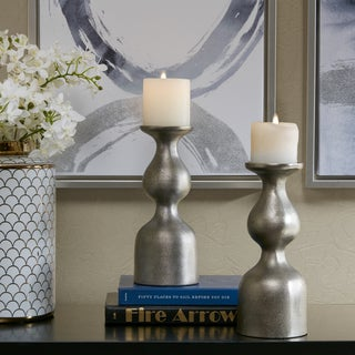 Madison Park Signature Allston Grey Candle Holder (Set of 2)