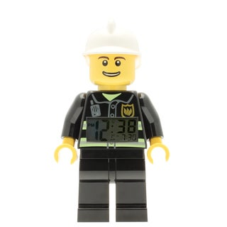 LEGO City Fireman Minifigure 9.5- in Clock