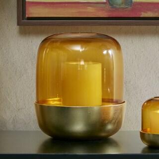 Madison Park Moderne Amber Candle Holder- Large