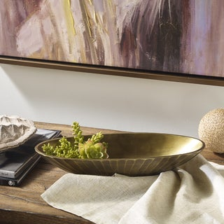 Madison Park Signature Omni Bronze Oval Platter