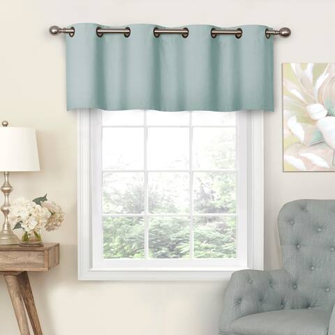 Eclipse Nadya Solid Blackout Window Valance - 52x18