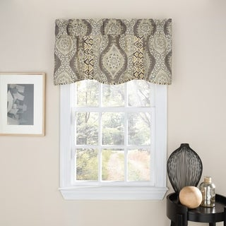 Waverly Moonlight Medallion Scalloped Window Valance