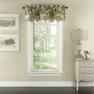 Waverly Garden Glory Scalloped Floral Valance - 60x16