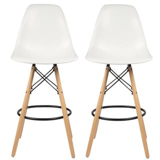 "Handmade 26"" Mid-Century Modern Retro Counter Stool, Set of 2"