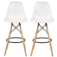 Mid-Century Modern Retro 26 In. Counter Stool, Set of 2