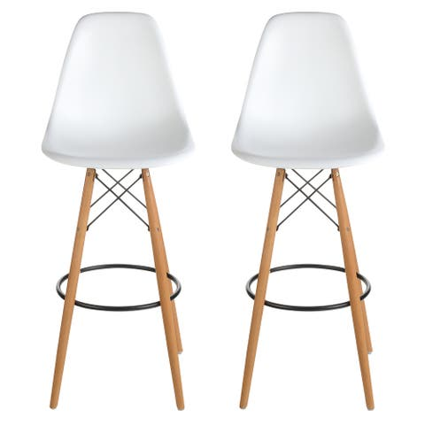 Mid-Century Modern Retro 30 In. Bar Stool, Set of 2