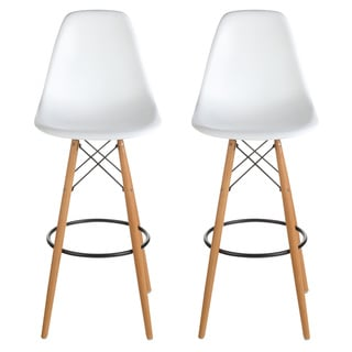 Link to Mid-Century Modern Retro 30 In. Bar Stool, Set of 2 Similar Items in Dining Room & Bar Furniture
