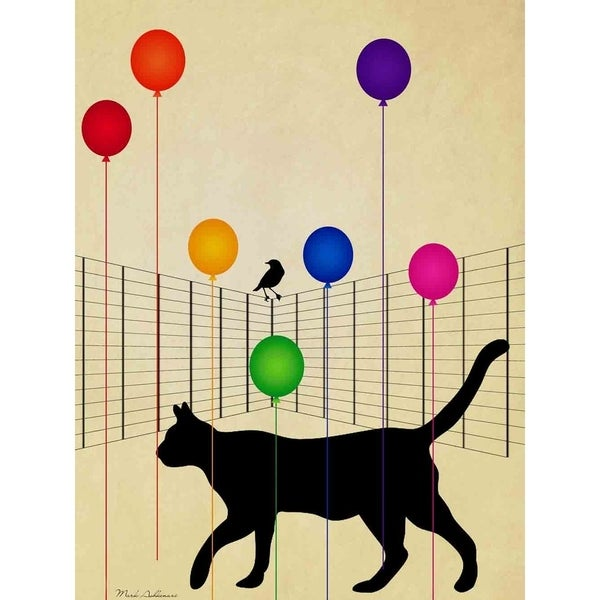 Cat & Balloons\