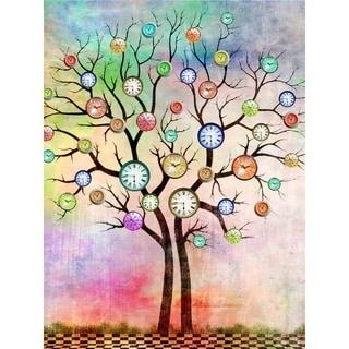 """""""Clock Tree"""" by Mark Ashkenazi, Canvas Giclee Wall Art"""