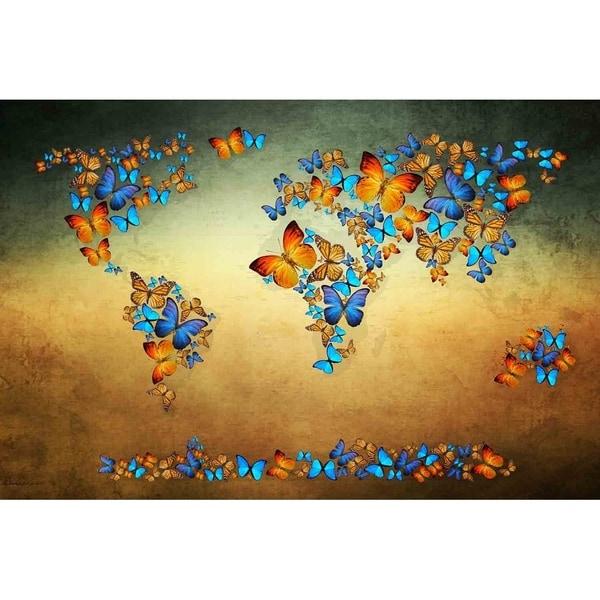Butterfly World Map III\