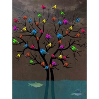 """""""Bird Tree"""" by Mark Ashkenazi, Canvas Giclee Wall Art"""