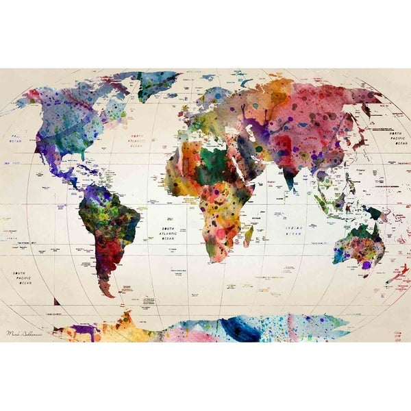 World map v by mark ashkenazi canvas giclee wall art free world map v by mark ashkenazi canvas giclee wall art gumiabroncs Gallery