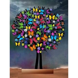 """Butterfly Tree III"" by Mark Ashkenazi, Canvas Giclee Wall Art"