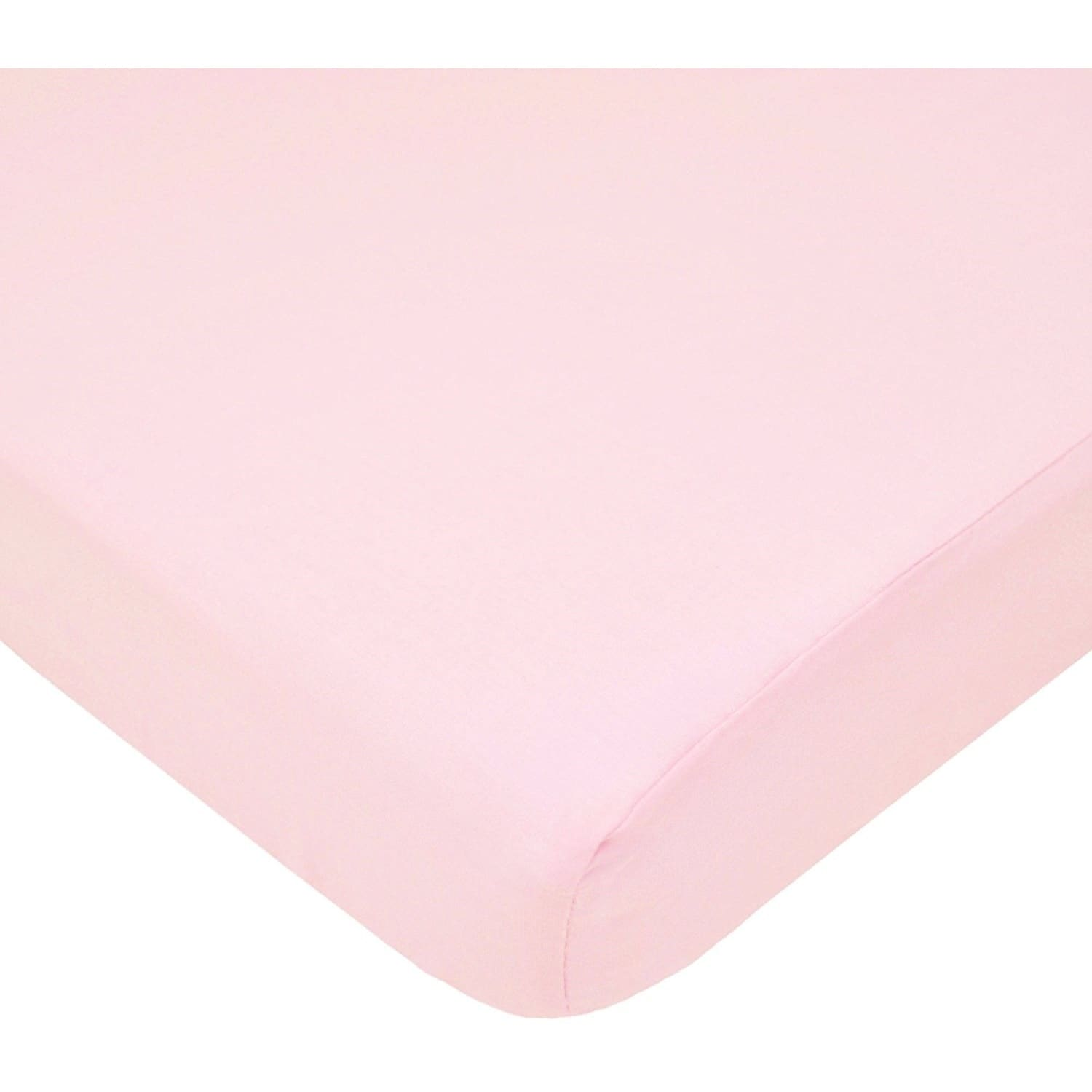 American Baby Pink 100 Percent Cotton Percale Fitted Port...