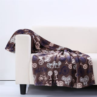 Berkshire Blanket Velvety Plush Bicycle Throw Blanket