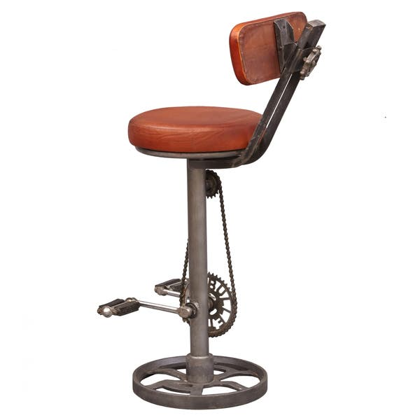 Peachy Shop Kent Brown Brown Leather Metal Adjustable Bicycle Pedal Evergreenethics Interior Chair Design Evergreenethicsorg