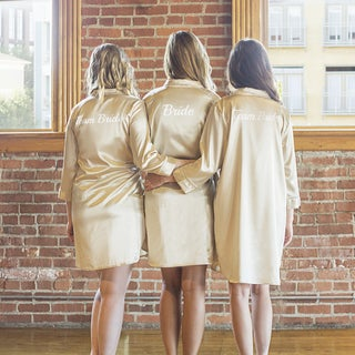Team Bride Gold Satin Night Shirt (2 options available)