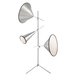 Eurofase Manera 3-Light Floor Lamp, Aluminum Finish - 22977-014