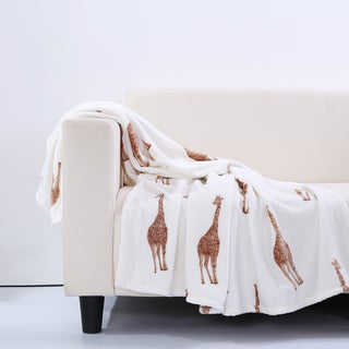Berkshire Blanket Velvety Plush Giraffe Throw Blanket