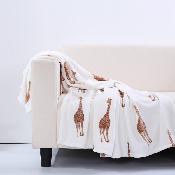Shop Berkshire Blanket Velvety Plush Giraffe Throw Blanket