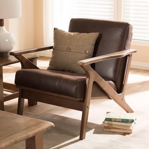Baxton Studio Bianca Mid-century Lounge Chair