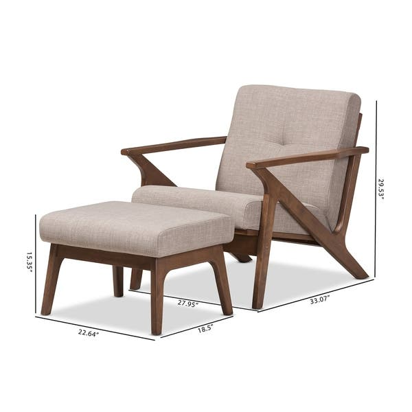Remarkable Shop Mid Century Lounge Chair And Ottoman Set By Baxton Gmtry Best Dining Table And Chair Ideas Images Gmtryco