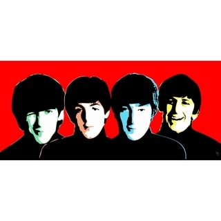 """Beatles Red"" by William Cuccio, Canvas Giclee Wall Art"