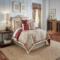 Waverly Fresco Flourish 4 Piece Reversible Bedding Collection - Red