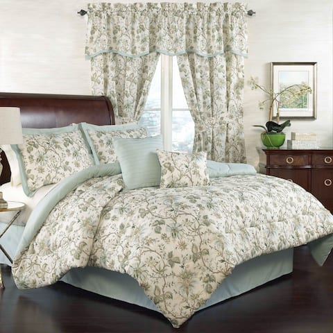 Traditions by Waverly Felicite 6 Piece Comforter Collection - Mineral