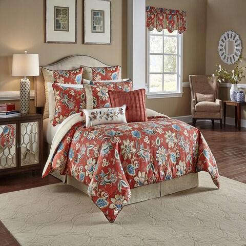 Waverly Brighton Blossom 4 Piece Reversible Comforter Collection - Gem