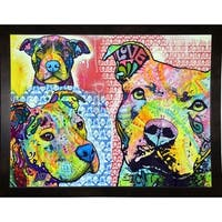 """Thoughtful Pit Bull This Years Love 2013 Part 3 Framed Print 14""""x18.25"""" by Dean Russo"""