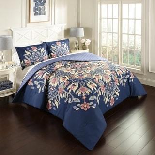 Marble Hill Floral Fantasy Reversible 3-Piece Comforter Set
