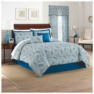 Traditions by Waverly Paisley Proposal 6 Piece Comforter Set