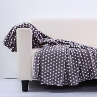 Berkshire Blanket Velvety Plush Polka Dot Throw Blanket