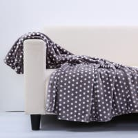 Berkshire Blanket Velvety Plush Polka Dot Throw Blanket