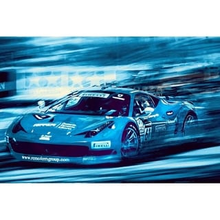 """Ferrari II"" by Mike Calascibetta, Canvas Giclee Wall Art"