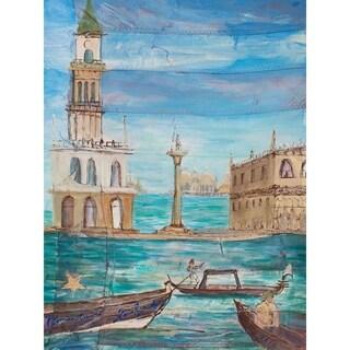 """Venice of America"" by David SchwARTZ, Canvas Giclee Wall Art"