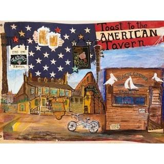 """""""Tavern"""" by David SchwARTZ, Canvas Giclee Wall Art"""