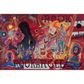 """Rock n Roll"" by David SchwARTZ, Canvas Giclee Wall Art"