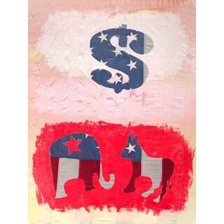 """Dollar Sign"" by David SchwARTZ, Canvas Giclee Wall Art"