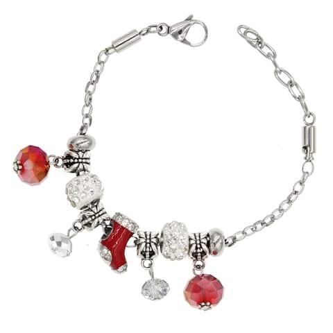 Handmade Oh Christmas Tree European-Style Charm Bracelet